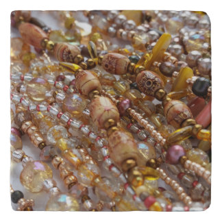 Marble Stone Trivet- Earth Tones Beads Print Trivet