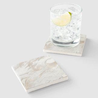 Marble Stone White Gold Beige Ivory Cream Gray Stone Coaster
