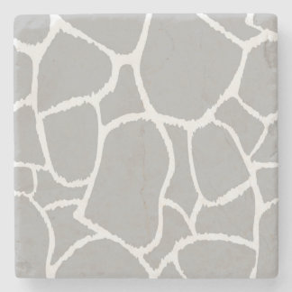 Marble stone with Grey giraffe structure Stone Beverage Coaster