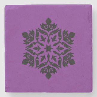 Marble stone with mandala art stone coaster
