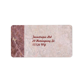 Marble Style Address Label