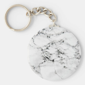 Marble texture basic round button key ring
