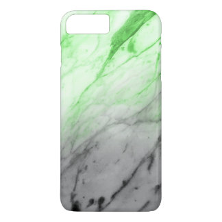 Marble Texture (Grey Glowing Green) iPhone 8 Plus/7 Plus Case