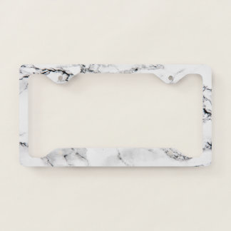 Marble texture licence plate frame