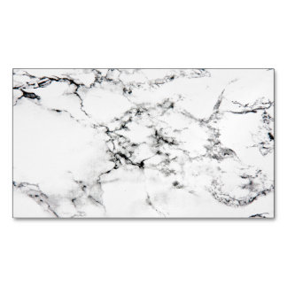 Marble texture magnetic business cards