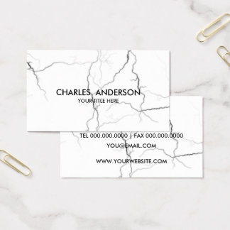 Marble Texture Pattern Black White Business Card