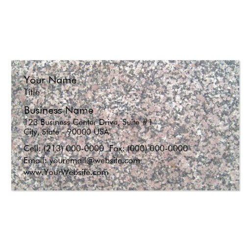 Marble Texture with pink spots Business Card Templates