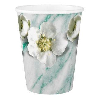 Marble TiffanyEmerald Glitter Flower White Jasmine