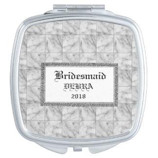 Marble-Tiles-Favours-Monogram-Template-Celebration Mirror For Makeup