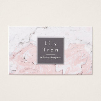 Marble Watercolor Business Card