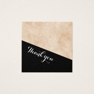 Marble Wedding Thank you. Square Business Card