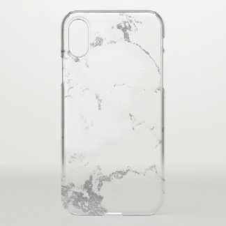 Marble White Gray Abstract Italian Minimalism Lux iPhone X Case