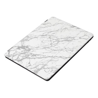 Marble White Silver Stone Gray Abstract iPad Pro Cover