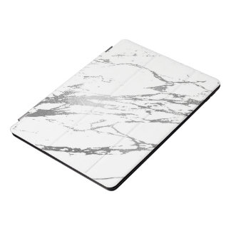Marble White Silver Stone Gray Abstract Lux iPad Pro Cover