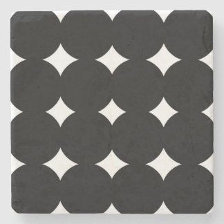 Marble with dots : with circles stone beverage coaster