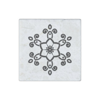 Marble with hand drawn Mandala Stone Magnet