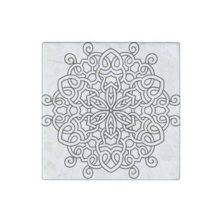 Marble with Mandala art Stone Magnet