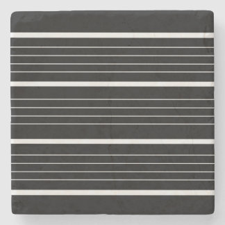 Marble with stripes : black stone beverage coaster