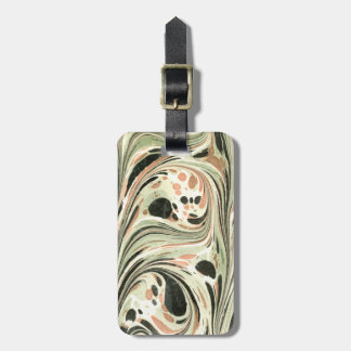 Marbled Abstract Design   Peach Green Bag Tags