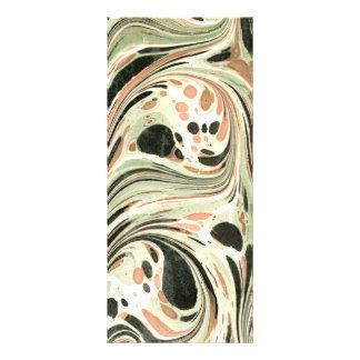 Marbled Abstract Design   Peach Green Full Colour Rack Card