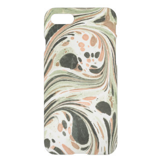 Marbled Abstract Design | Peach Green iPhone 7 Case
