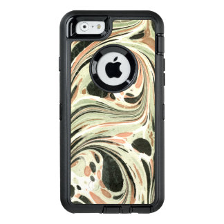 Marbled Abstract Design   Peach Green OtterBox iPhone 6/6s Case