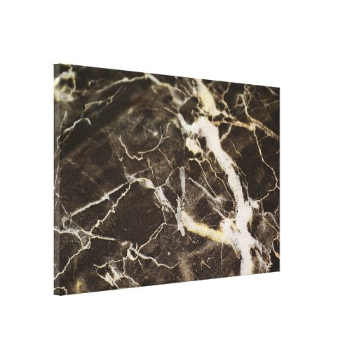 Marbled-Abstract Expressionism Stretched Canvas Print