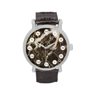 Marbled-Abstract Expressionism Wristwatches