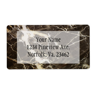 Marbled-Abstract Expressionism Shipping Label