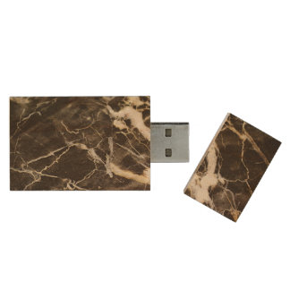 Marbled-Abstract Expressionism Wood USB 2.0 Flash Drive