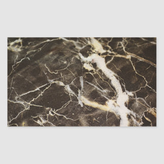 Marbled-Abstract Expressionism Rectangular Sticker