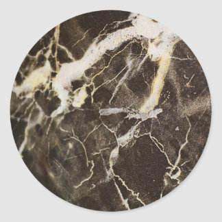 Marbled-Abstract Expressionism Round Sticker
