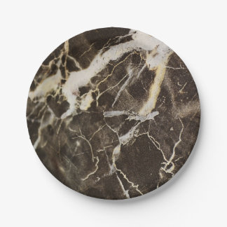 Marbled-Abstract Expressionism 7 Inch Paper Plate