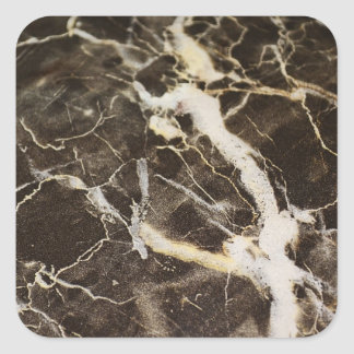 Marbled-Abstract Expressionism Square Sticker