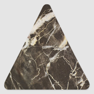 Marbled-Abstract Expressionism Triangle Sticker