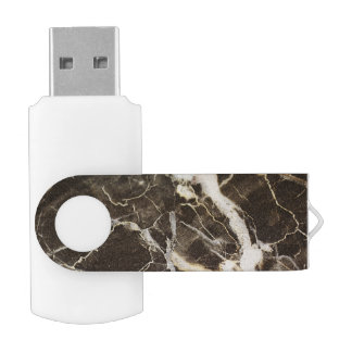 Marbled-Abstract Expressionism Swivel USB 2.0 Flash Drive