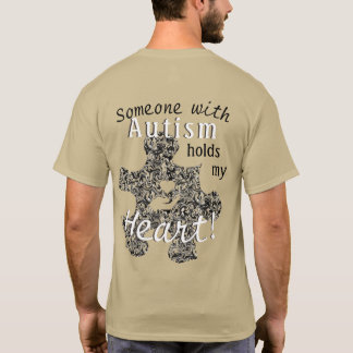 Marbled Autism Puzzle Piece with Text T-Shirt