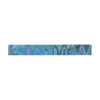 Marbled Blue Waters Ticket Invitation Belly Band