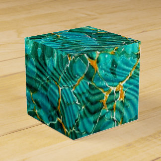 Marbled Book End Paper Favor Box | Book Lover Blue