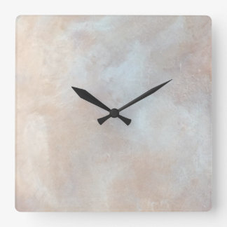 Marbled Cream Background Plaster Texture Marble Square Wall Clock