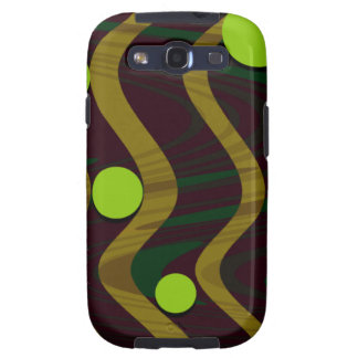 Marbled Dot Wave Green Gold Samsung Galaxy S3 Covers