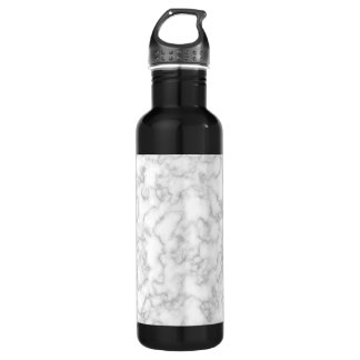 Marbled Gray White Marble Stone Pattern Background 710 Ml Water Bottle