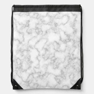 Marbled Gray White Marble Stone Pattern Background Drawstring Bag