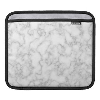 Marbled Gray White Marble Stone Pattern Background iPad Sleeves