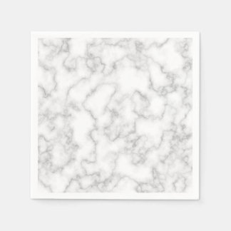 Marbled Gray White Marble Stone Pattern Background Paper Napkin