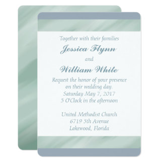 Marbled Green and Dusty Blue Wedding Invite