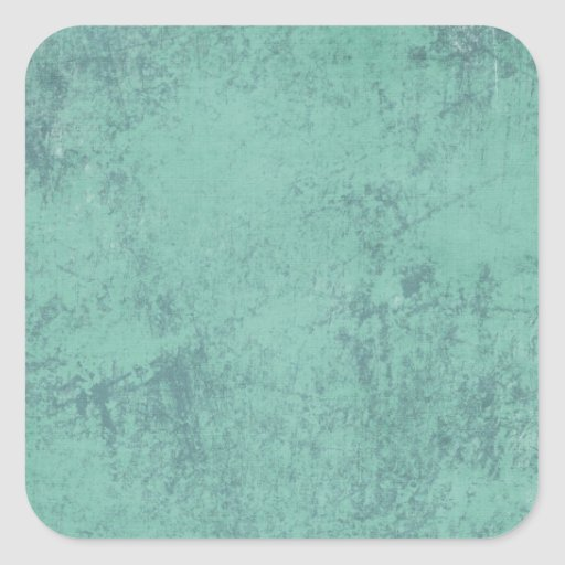 MARBLED GRUNGE RANDOM ABSTRACT SOLID BLUEISH GREEN SQUARE STICKER