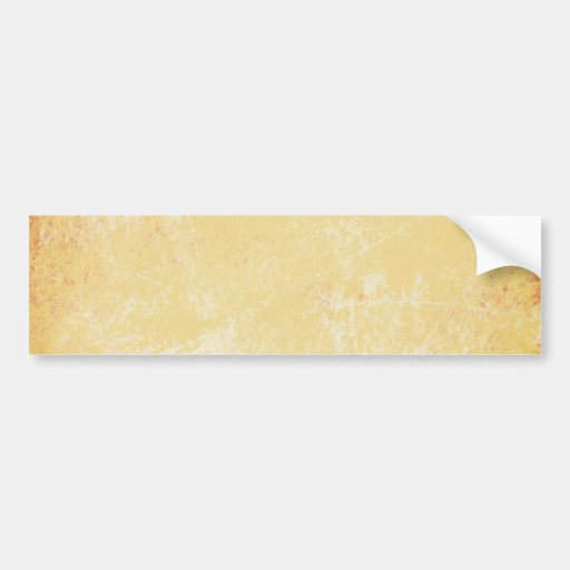 MARBLED GRUNGE RANDOM ABSTRACT SOLID CREAMY YELLOW BUMPER STICKER
