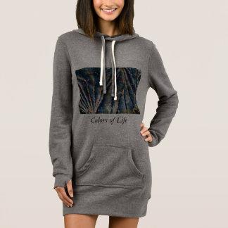 marbled hoodie dress