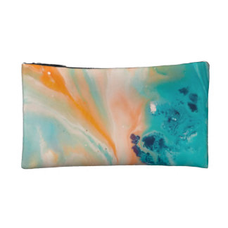 Marbled Ink Watercolor Cosmetics Bags
